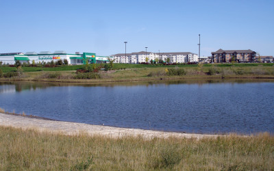What are retention ponds and detention ponds?